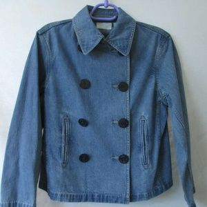 NEW $79 LIZ CLAIBORNE S Jacket BLUE DENIM JEANS